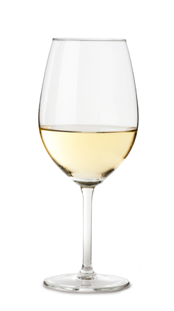 Chardonnay Wine Glass Isolated on White Background