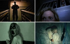 Above (clockwise): Creep, Home Movie, The Taking of Deborah Logan, and Grave Encounters