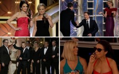 Above: Memorable moments from the 2014 Golden Globe Awards