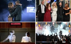 Above: Memorable moments from the 2014 Grammy Awards