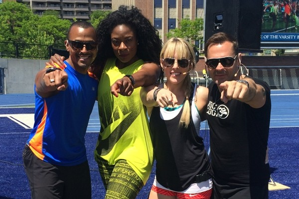 Above: Brent Bishop, Jully Black, Eva Redpath and Michael DeCorte at the 2014 'Kick it Up for Kidney Cancer' event in Toronto