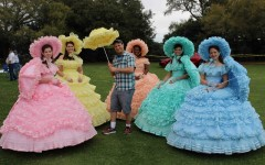 Above: Mike Dojc poses with a gaggle of Azalea Trail Maids. Fifty high school seniors are handpicked each year, an honour more highly sought than prom queen, to serve as official Ambassadors of the city.