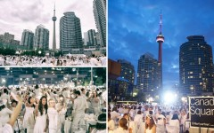 Above: Toronto's 4th annual Diner en Blanc brought together white-clad Torontonians for a dinner party beneath the stars (Photos: Ryan Emberley)