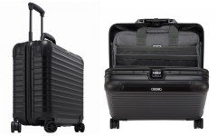 Above: RIMOWA's Rob Cochrane recommends the Topas Stealth Business Muiltiwheel for business travel
