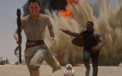 Above: 'Star Wars: The Force Awakens,' directed by J. J. Abrams, hit theatres around the globe this past weekend