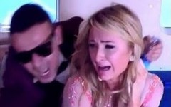 Above: An Egyptian TV Show pranked Paris Hilton with a disturbing fake plane crash (Screencap: YouTube)