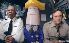 Airplane! stars Kareem Abdul-Jabbar and Robert Hays get back together in a new ad promoting tourism in Wisconsin