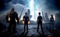 Above: 'Fantastic Four' with Miles Teller, Kate Mara, Michael B. Jordan and Jamie Bell