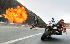 Above: Tom Cruise stars in 'Mission: Impossible Rogue Nation' (Photo courtesy of Paramount/Viacom Inc)