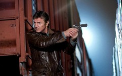 Above: Liam Neeson is at it again starring in the action thriller 'Run All Night'