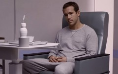 Above: Ryan Reynolds stars in the new sci-fi, 'Self/Less'