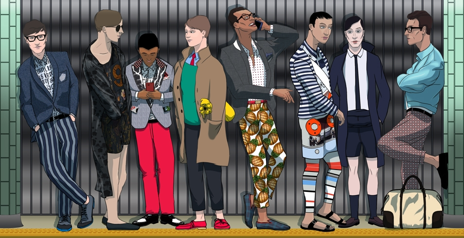 Menswear 2014 Spring/Summer Trends