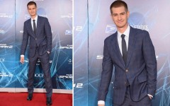 Above: Andrew Garfield at the red carpet premiere of 'The Amazing Spider-Man 2' in NYC