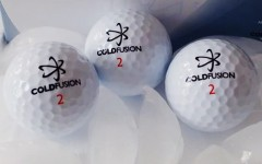 Above: Coldfusion golf balls out of Cary, NC are built for longer air time in lower temps