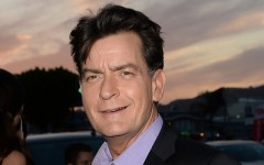 Above: Hollywood star Charlie Sheen has confirmed he is living with HIV