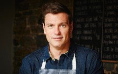 Above: Food Network star Chuck Hughes lets Amongmen in on what cooking really is (Photo: Dominique Lafond)