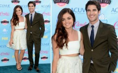 Lucy Hale and Darren Criss at the 2013 Teen Choice Awards