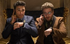Above: James Franco and Seth Rogen in 'The Interview'