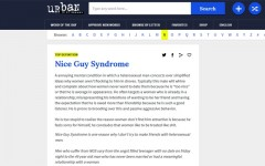 Above: Urban Dictionary's definition of 'Nice Guy Syndrome'