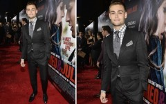Douglas Booth at the Romeo And Juliet premiere in Hollywood