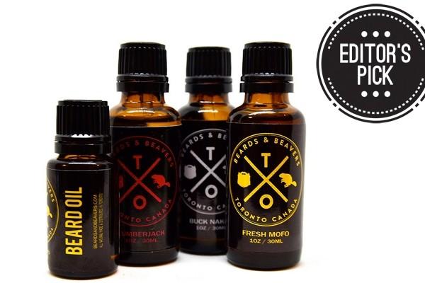 Above: A selection of Beards & Beavers' handmade beard oils