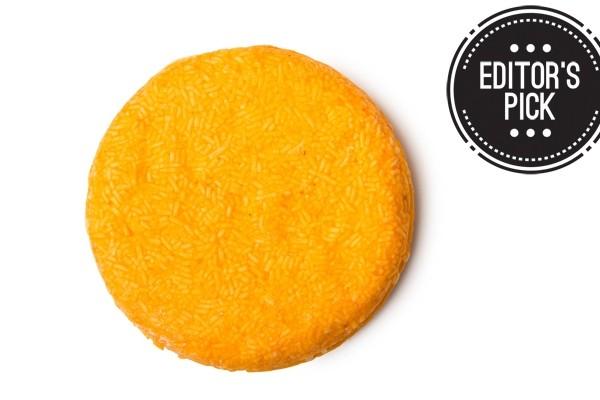 Above: Lush' citrusy Brazilliant solid shampoo