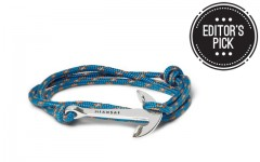 Above: Miansai's rope and anchor bracelet in Caribbean blue