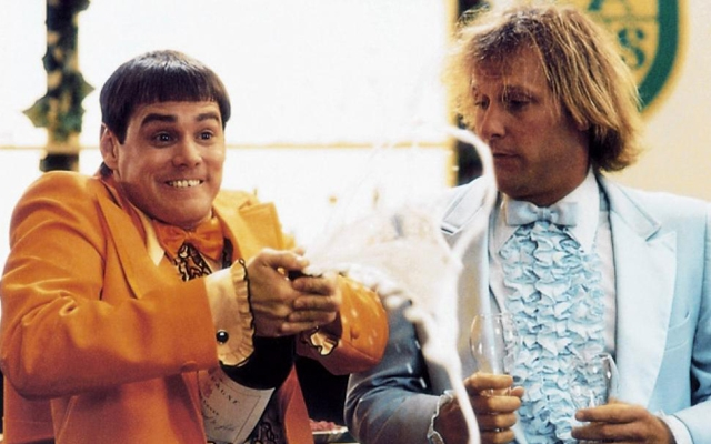 Above: Jim Carrey and Jeff Daniels in the 1994 film, 'Dumb & Dumber'