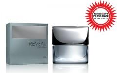 Above: Calvin Klein's latest fragrance for men, Reveal