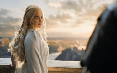 Above: Emilia Clarke as Daenerys Targaryen on 'Game of Thrones'