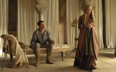 Above: Game of Thrones' Cersei and Jaime Lannister