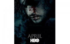 Above: HBO teases audiences with Jon Snow season six poster for 'Game Of Thrones'