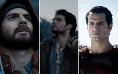 Above: Superman with scruff? Screen captures from the official trailer of Man of Steel