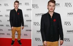 Above: Hayden Christensen at RW&Co. in Toronto