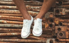 Above: Learn how to clean your white Converse shoes (Photo: Shutterstock/Rock and Wasp)