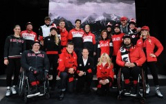 Hudson's Bay unveils its Sochi 2014 Canadian Olympic and Paralympic Collection, modeled by Canadian athletes (Photo: Hudson's Bay Company)
