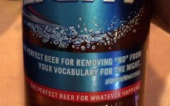 Above: Bud Light has apologized after critics said a label printed on some bottles of beer endorsed rape