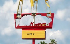 Above: McDonald's new TV commercial highlights some of the many messages shown on the restaurant's signs under its trademark Golden Arches