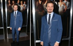 Above: Jeremy Renner at the 'American Hustle' screening in LA