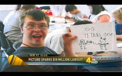 This photo of Adam Holland, a man with Down syndrome, spawned a derogatory Internet meme. (Photo via WSMV-TV)