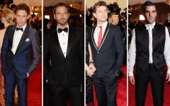 Eddie Redmayne, Gerard Butler, Joshua Jackson and Zacary Quinto all hit the 2013 Met Gala in style