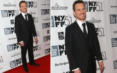 Michael Fassbender at the '12 Years A Slave' NYC premiere