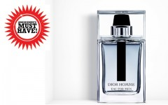 Above: Dior Homme Eau for Men, a fresh woody fragrance with a masculine and sophisticated signature