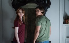 Above: 'Oculus' features Karen Gillan and Brenton Thwaites battling a haunted mirror