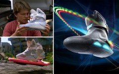 Above: Nike's self-lacing Back to the Future inspired sneakers are coming this year