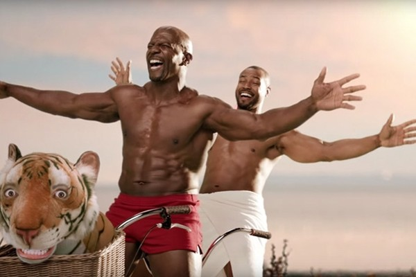 Above: Terry Crews and Isaiah Mustafa make peace in Old Spice's latest commercial