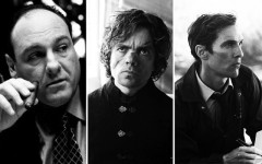 Above: James Gandolfini in The Sopranos, Peter Dinklage in Game of Thrones and Matthew McConaughey in True Detective