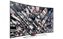 Above: Samsung's curved UHD TV