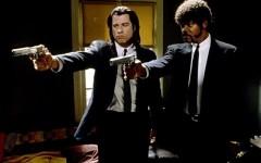 Above: John Travolta and Samuel L. Jackson in Quentin Tarantino's 'Pulp Fiction'