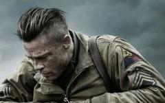Above: Brad Pitt stars in the World War II film 'Fury'